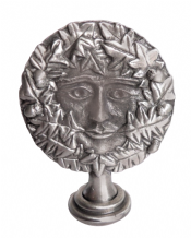 Green Man Pewter Ornament - AO2